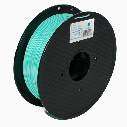 A 1KG spool of SnoLabs Mint Green PLA (1.75mm)