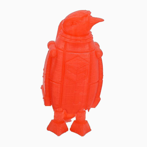 Transparent Red SnoLabs Penguin with Adaptive Layers!