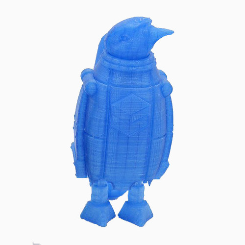 Transparent Blue SnoLabs Penguin with Adaptive Layers!