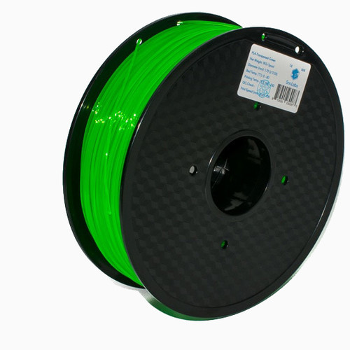 A 1KG spool of SnoLabs Transparent Green PETG (1.75mm)