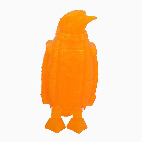 Transparent Orange SnoLabs Penguin with Adaptive Layers!