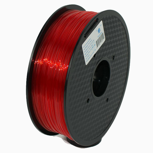 A 1KG spool of SnoLabs Transparent Red PETG (1.75mm)