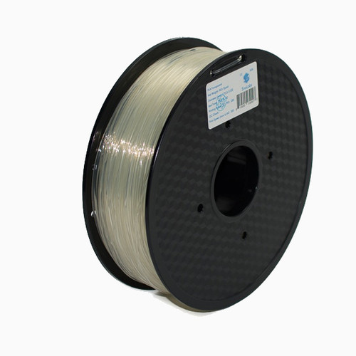 A 1KG spool of SnoLabs Transparent PETG (1.75mm)