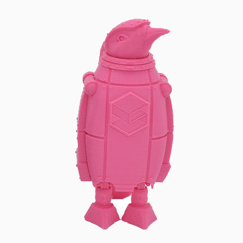 Pink SnoLabs Penguin with Adaptive Layers!
