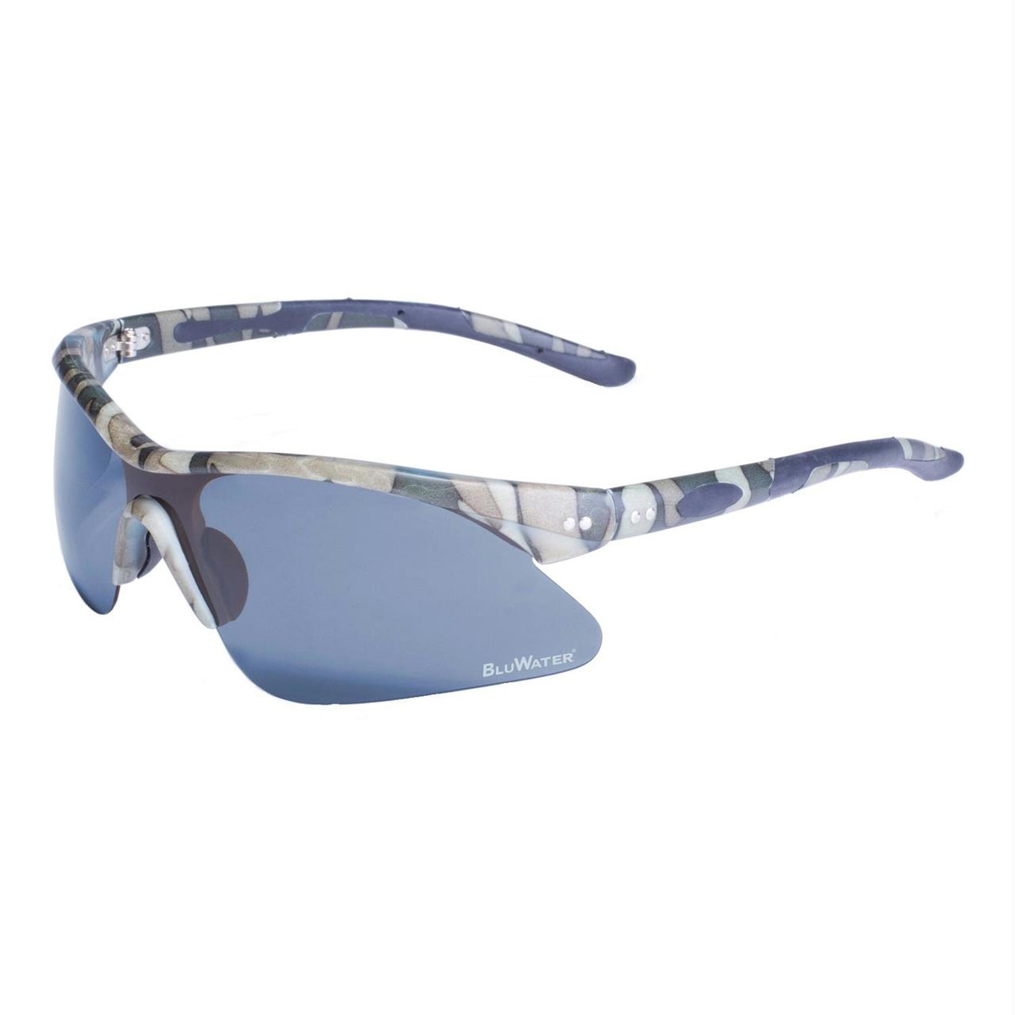 BlueWater Semi Rimless Camo Frame with Grey Polarized Lens