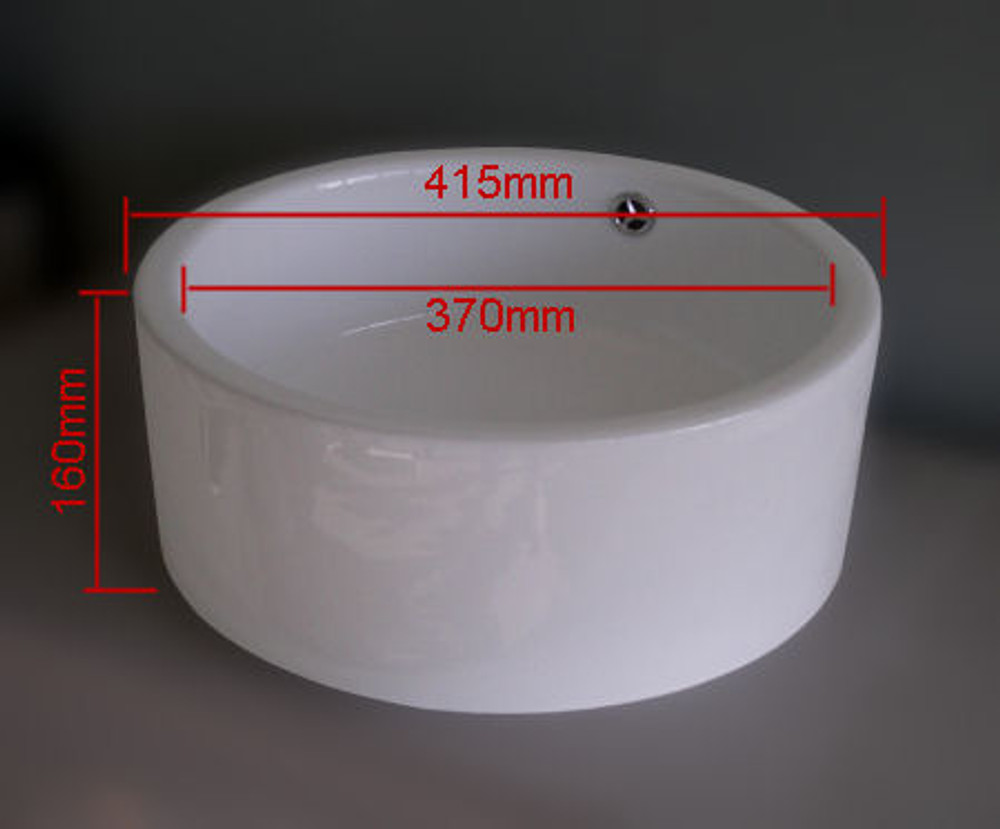 Round Bench Top Basin Bowl D218