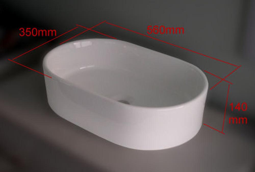 Racecourt Shape Slim Basin - D294H