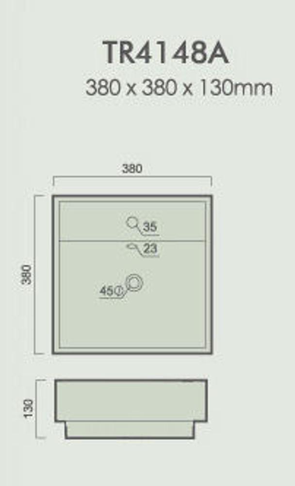 Square Semi Inset & Drop In Basin 4148A