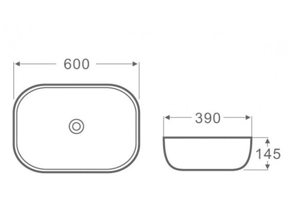 4mm Ultra Slim Ceramic Basin 2143P
