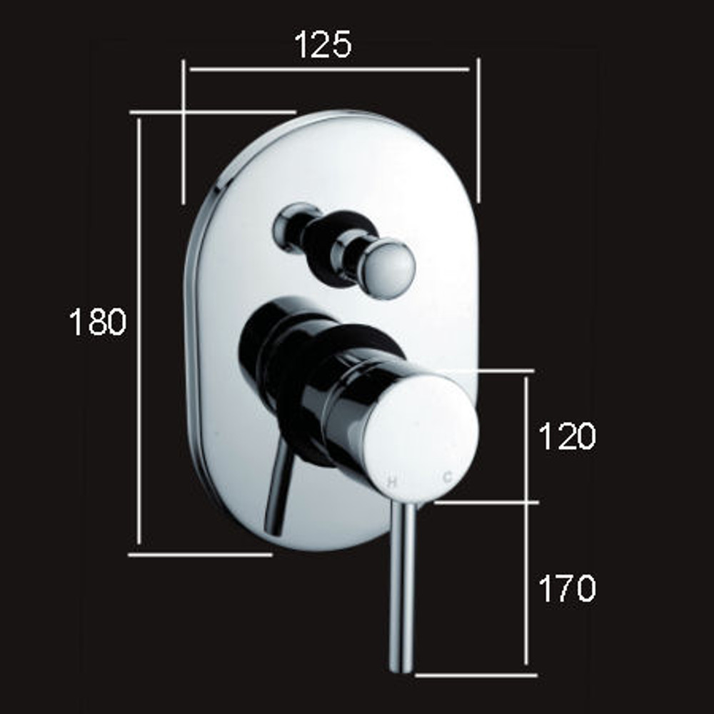 Lollypop Shower Mixer With Diverter