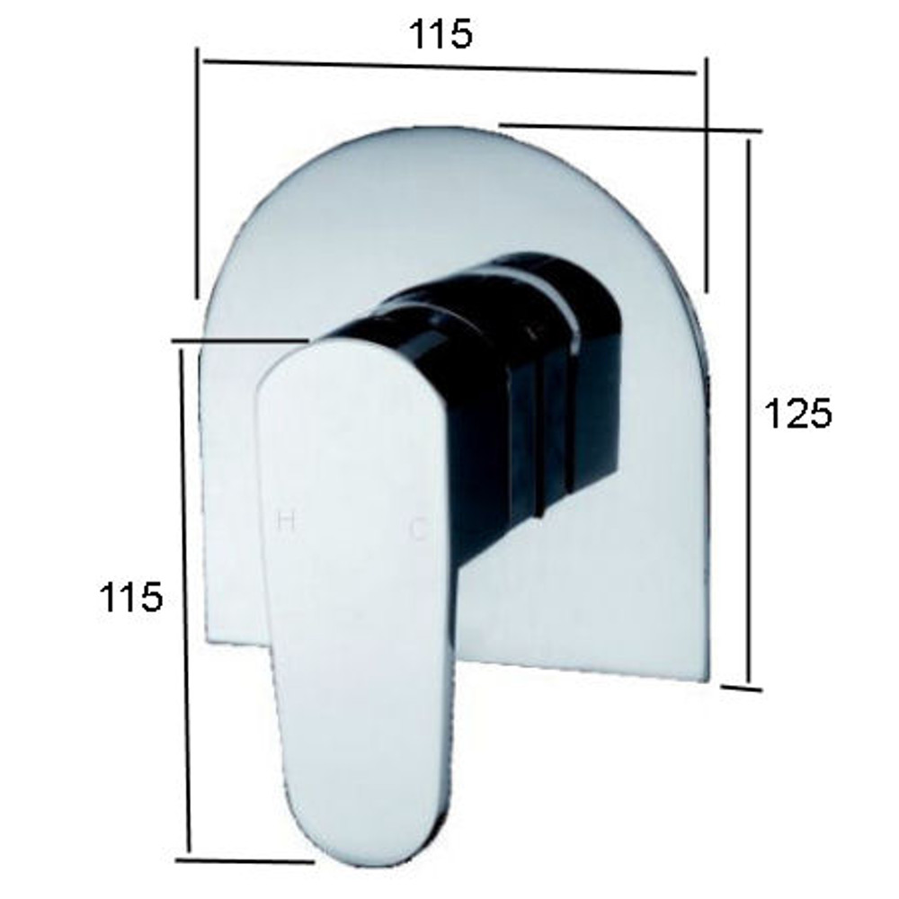 Brand New Round Oval Concealed Shower and Bath Mixer