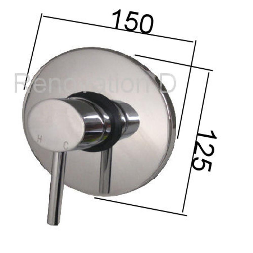 New Ellipse Concealed Shower or Bath Mixer