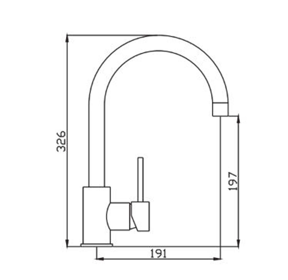 Rose Gold Lollypop Large Gooseneck Basin, Kitchen & Laundry Sink Mixer Tap