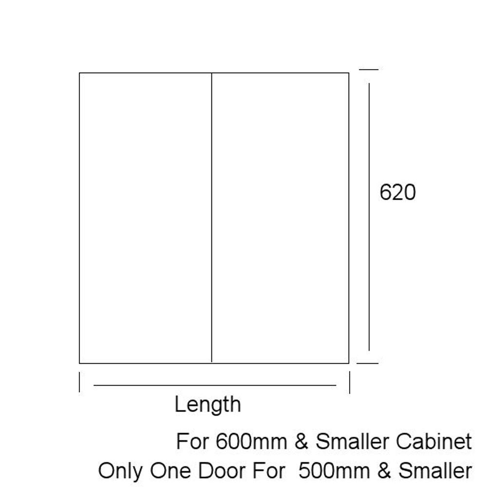 Custom Made Vanity (Door & Drawer)- Any Size