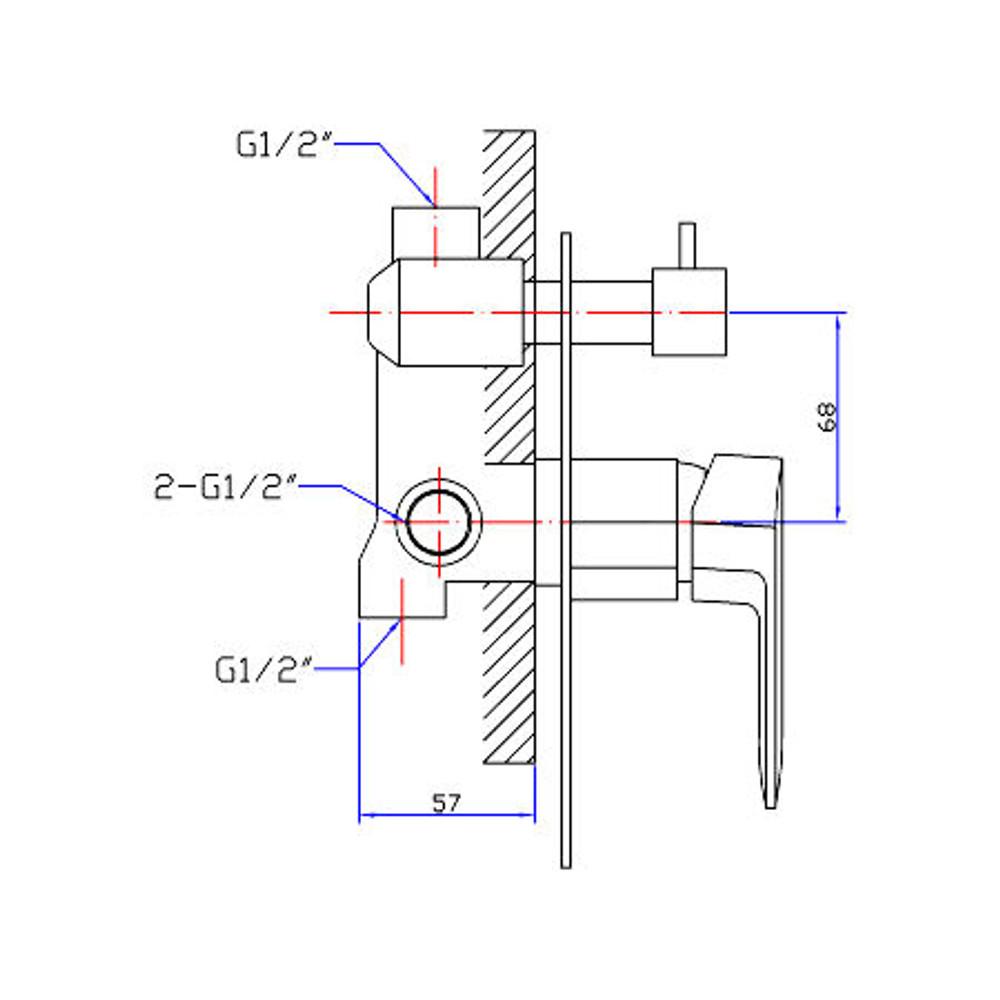 Normandy Lindy Bath Shower Mixer Diverter Tap