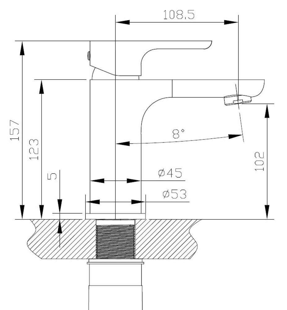 Normandy ETHAN Basin Mixer Tap - Chrome