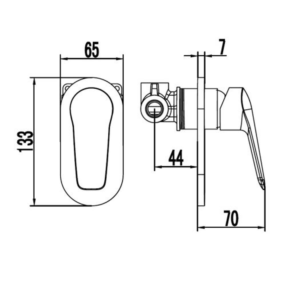 ikon SULU Wall Mixer Tap - Shower / Bath