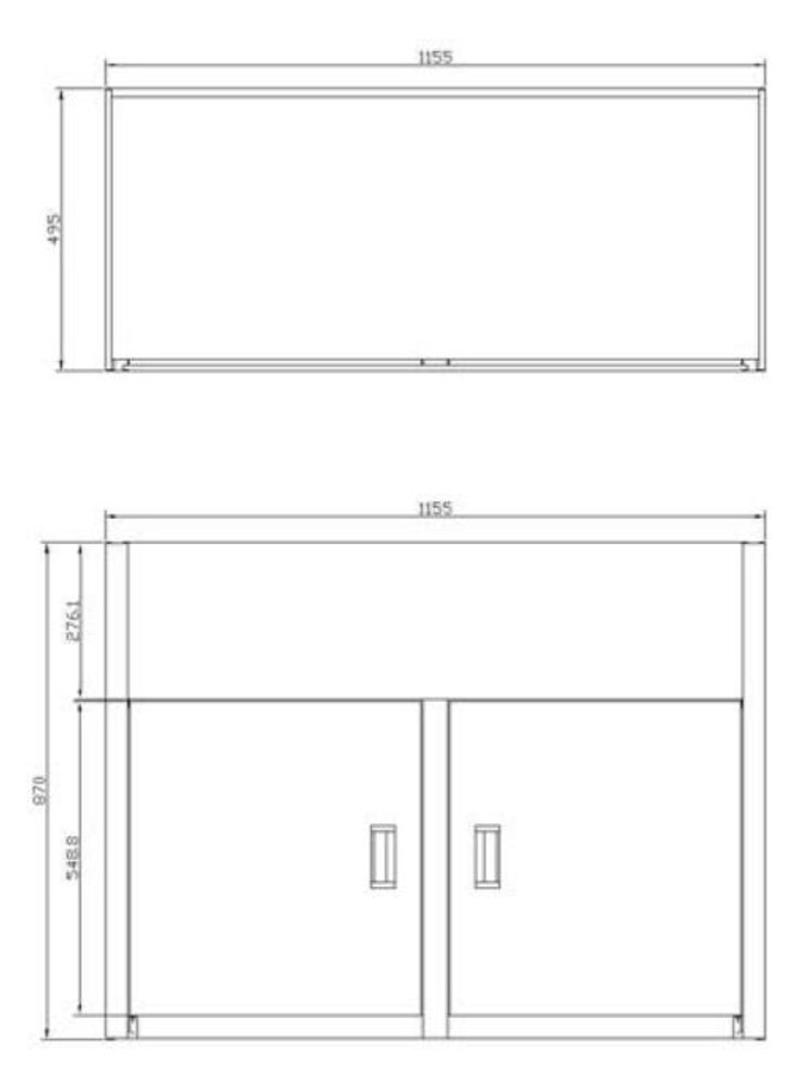 PROJECT Double 45 Liters Laundry Sink Tub Cabinet (SINK + CABINET)