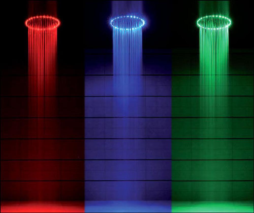 Normandy LED 200mm Round Thin Bathroom Rain Shower Head