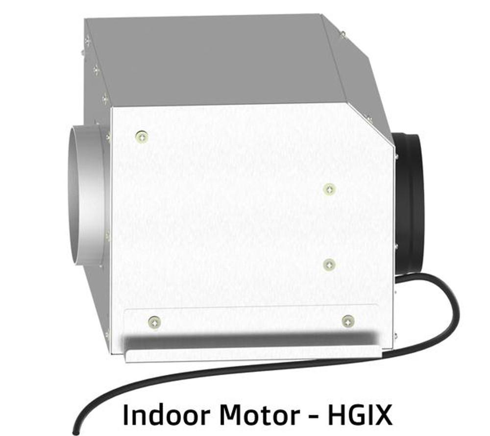 Dilusso GLASS CANOPY RANGEHOOD - 600MM Option External Motor