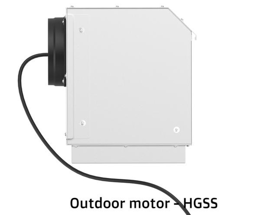 Dilusso BLACK Display CANOPY RANGEHOOD - 600MM Option External Motor