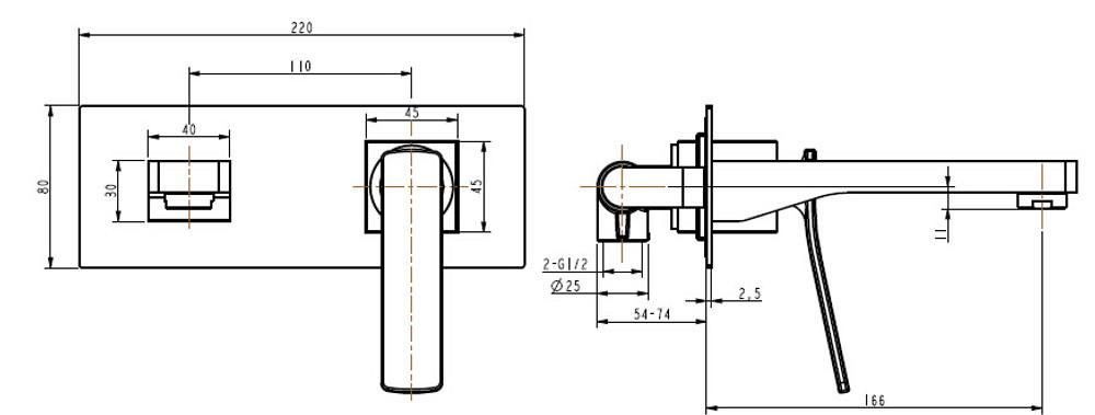 Normandy Utah Bath Spout and Mixer Tap Combination