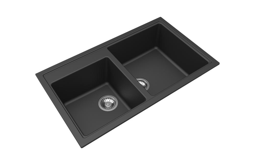 Zum Granite Kitchen Sink - Drop In or Under Mount - Double Bowl 860 x 500