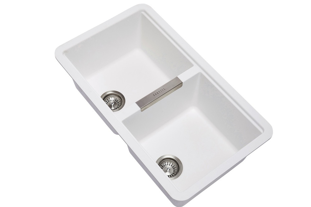 Zum Granite Kitchen Sink - Under Mount - Double Bowl 824 x 481 - No Tap Hole