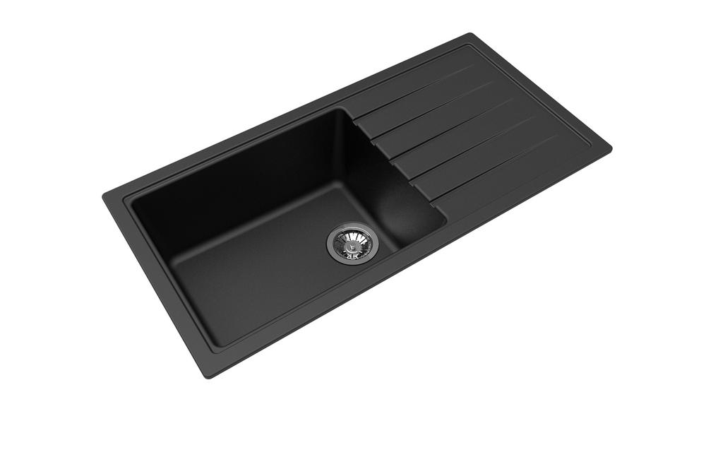 Zum Granite Kitchen Sink - Drop In or Under Mount - Single Bowl + Drainer 1000 x 500