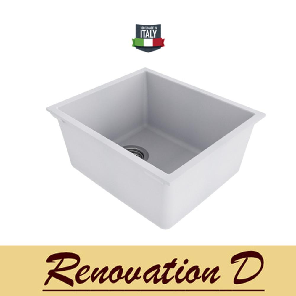 Cino Puro CGS 100U 380 MM Undermount Single Bowl Granite Sink Black Grey White