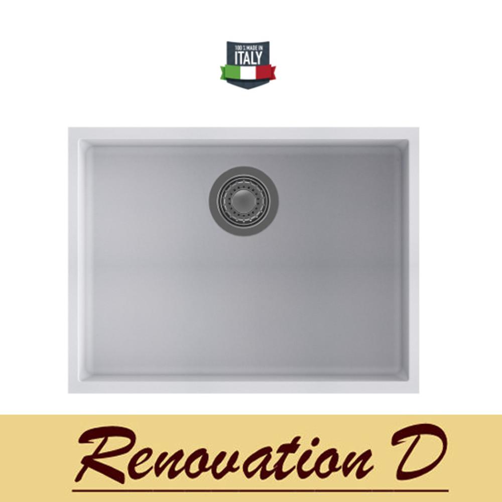 ... Cino Puro CGS 110U 585 MM Undermount Single Bowl Granite Sink BLack Grey  White ...