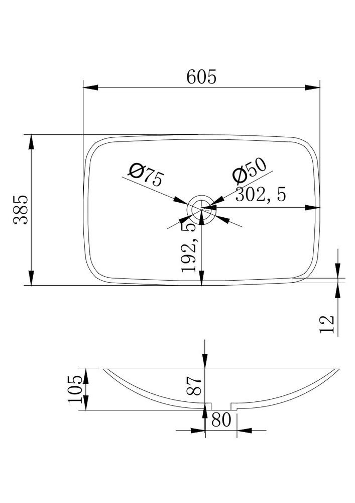 Solid Surface Bench Top Basin XA-A06