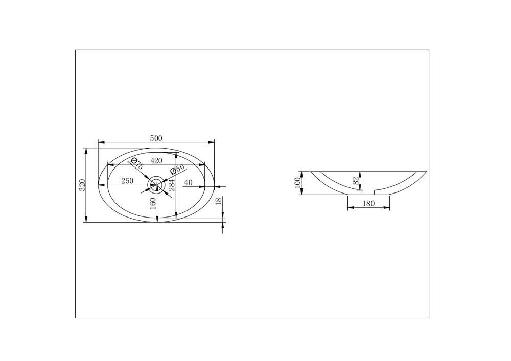 Solid Surface Bench Top Basin XA-A23-500X320