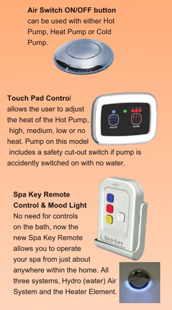 Sapphira  Corner Spa Bath with Hot Pump