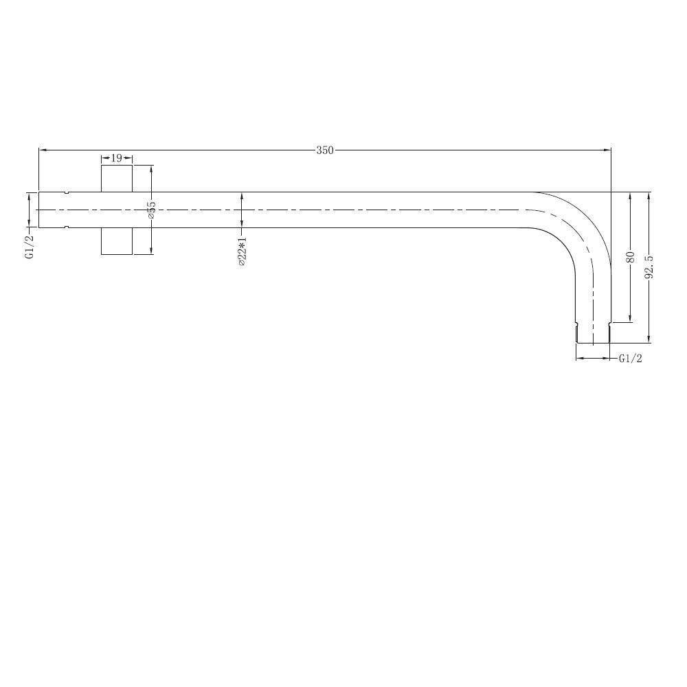 Brass Round Brushed Nickel Satin Wall Shower Arm