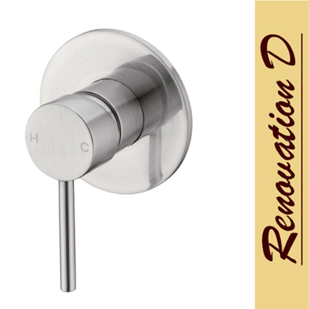 Brushed Nickel Satin Lollypop Shower and Bath Mixer