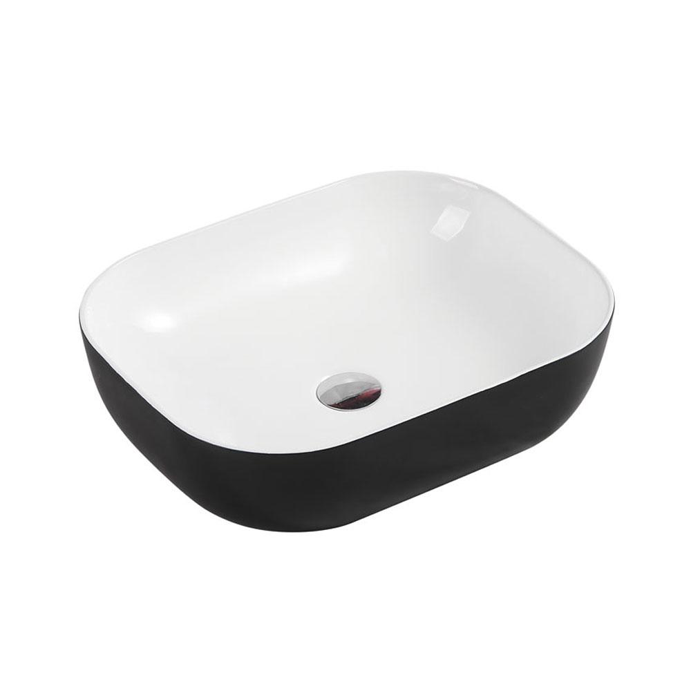 CH43 Art Basin - Touchline White Matt Black