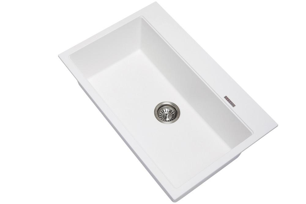 CarySil Walt 780 Granite Kitchen Sink - Drop In or Under Mount - Single Bowl 780mm x 510 mm x 220mm