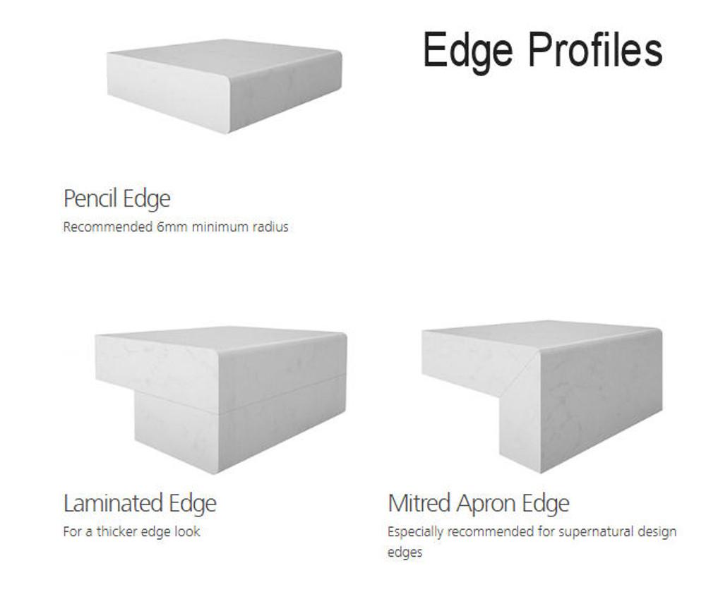 Caesarstone Bench Top Slab 3000 x 1400 -  White Shimmer 3142