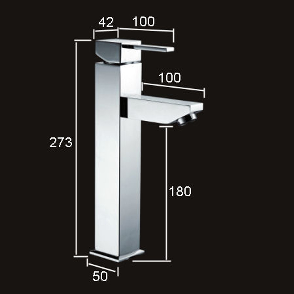 Normandy Tower Square Basin Mixer Tap