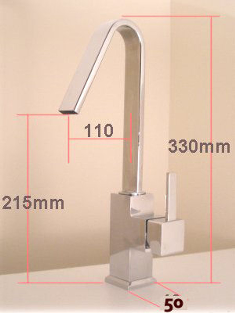Normandy Gooseneck Basin, Kitchen & Laundry Sink Mixer Tap