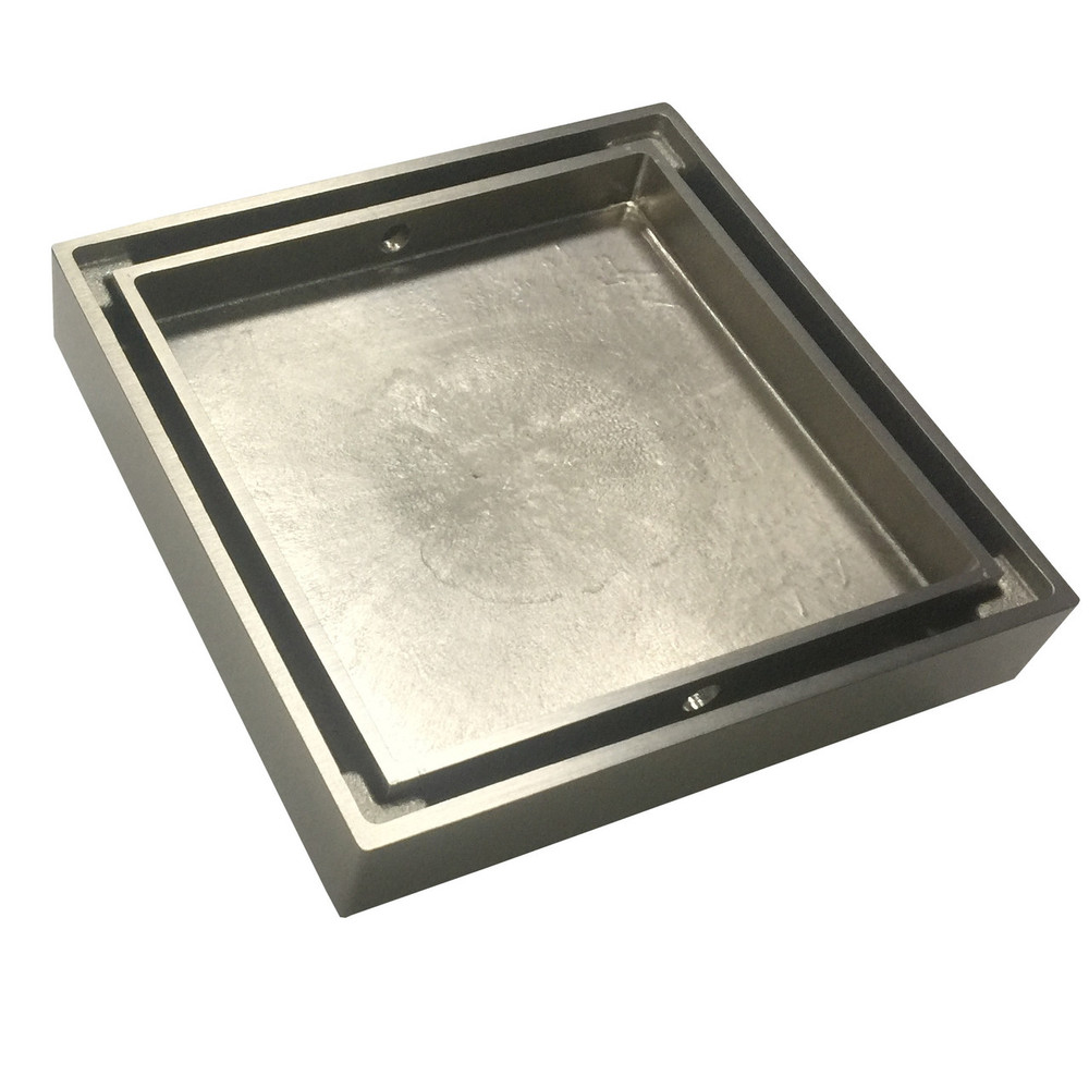 2 In 1 Tile Insert Or Normal Floor Waste - Brushed Nickel Satin 80mm