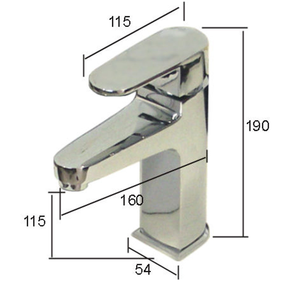 Normandy Oval Basin Mixer Tap