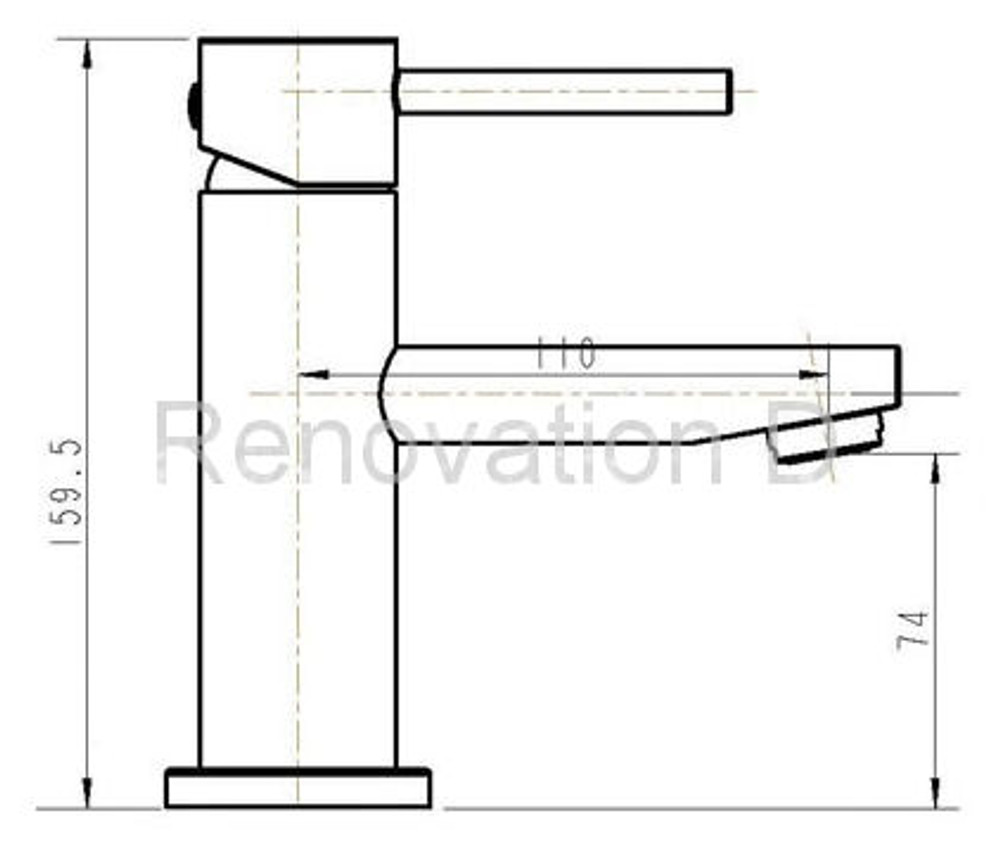 Lollypop Ellipse Basin Mixer Tap