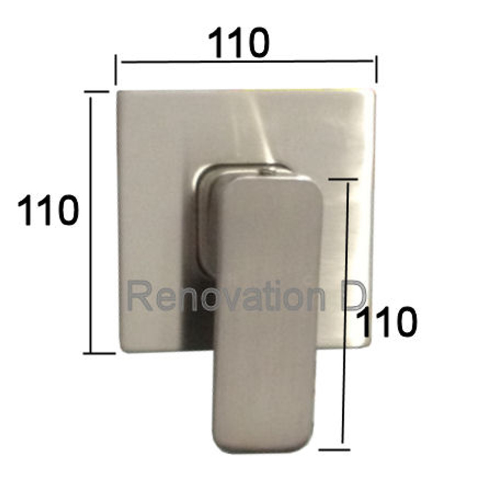 Brushed Nickel Satin - Wall Mixer Tap