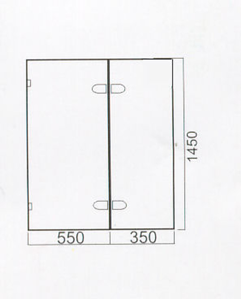 Normandy Frameless OverBath Shower Screen Two Panel