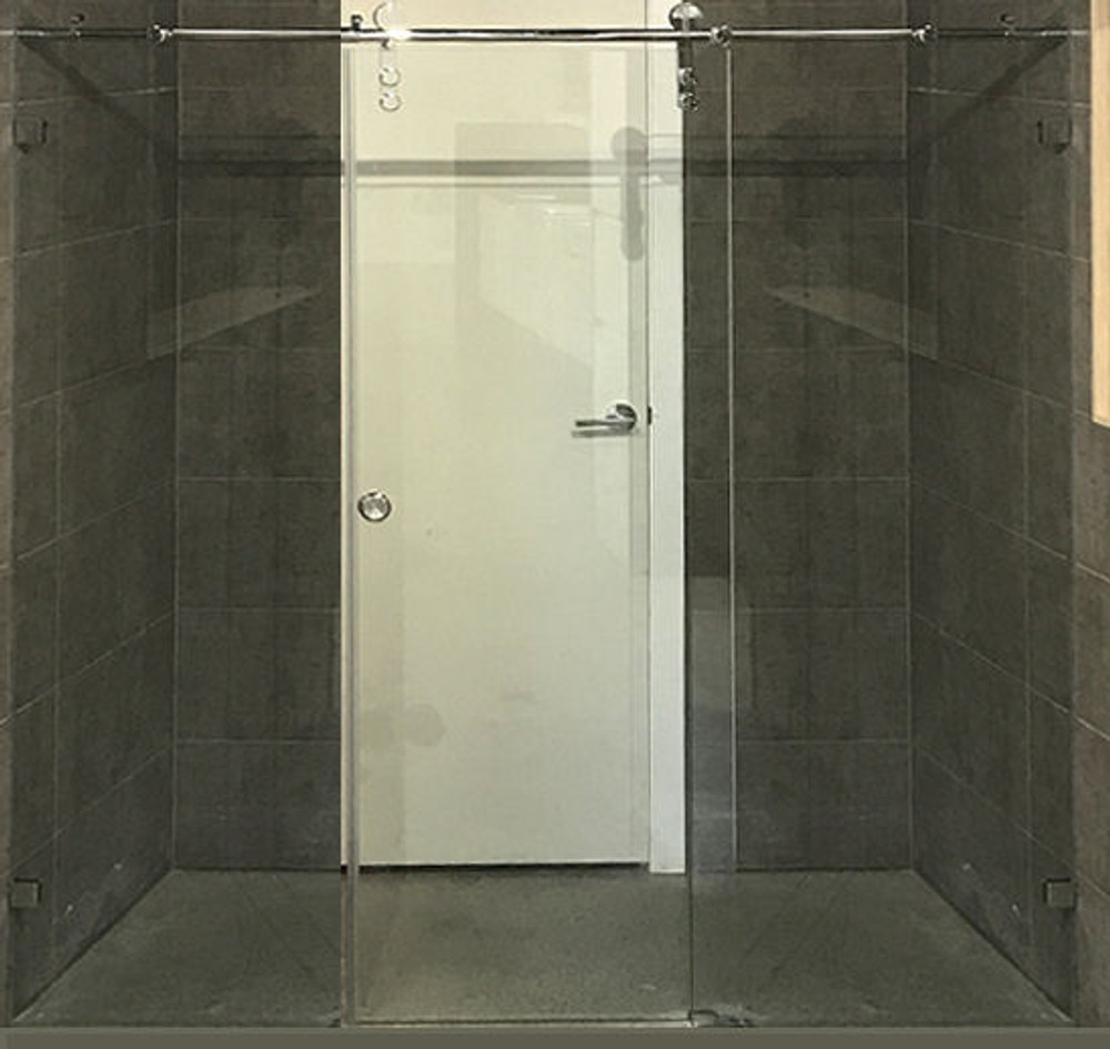 Wall To Wall Sliding Frameless Shower Screen Roller 3