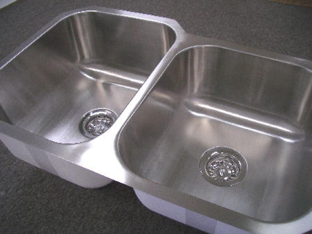 Undermount Kitchen Stainless Steel Sink 1&3/4 Bowl - CHROME