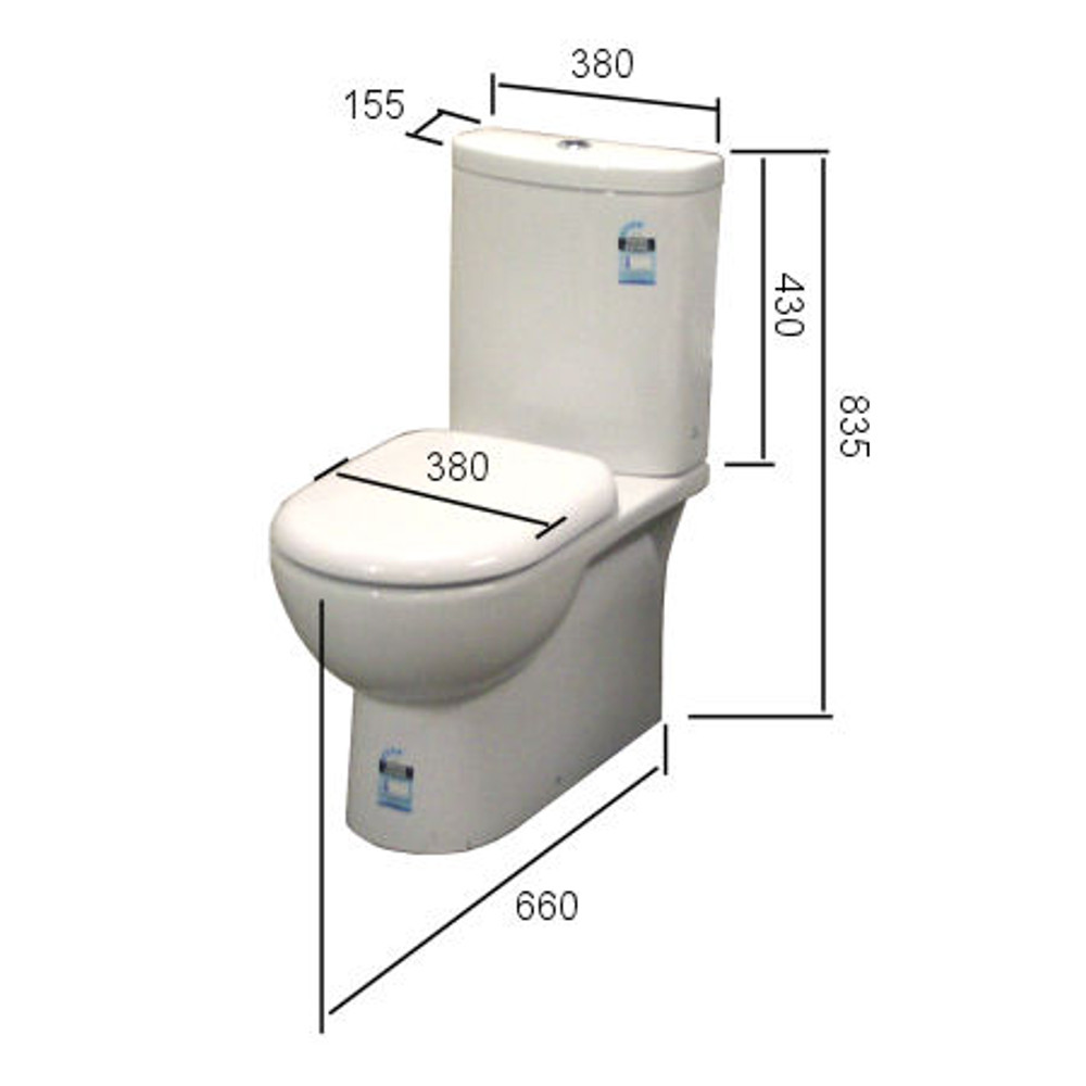 Milan Wall Faced Toilet - S or P Trap