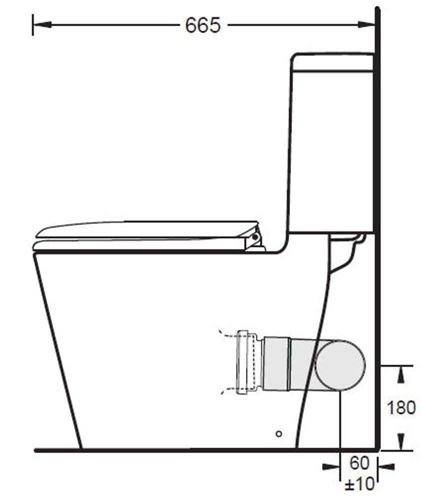 GEMINI Space Solution Skew Toilet